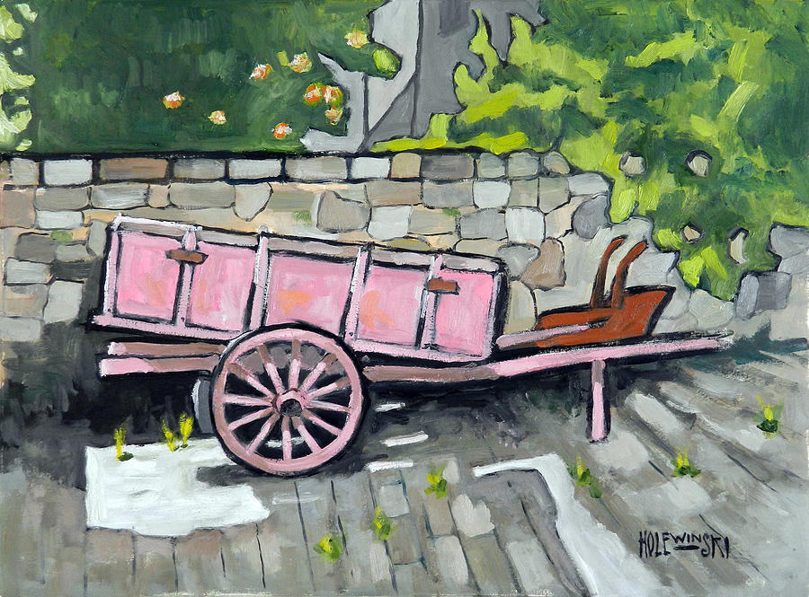 Italy Painting - Old Cart in Florence by Robert Holewinski