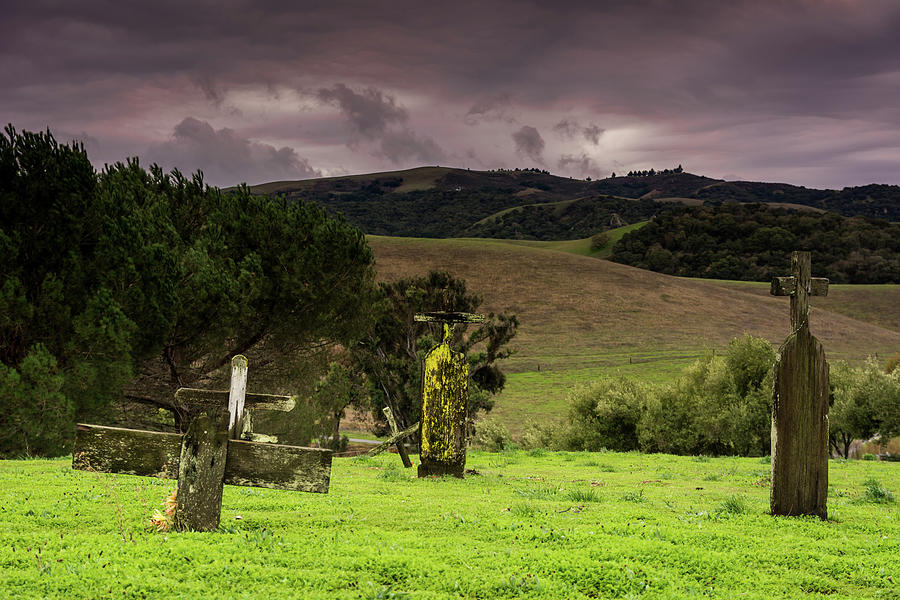 Landscape Photograph - Old Cementery by Javier Flores