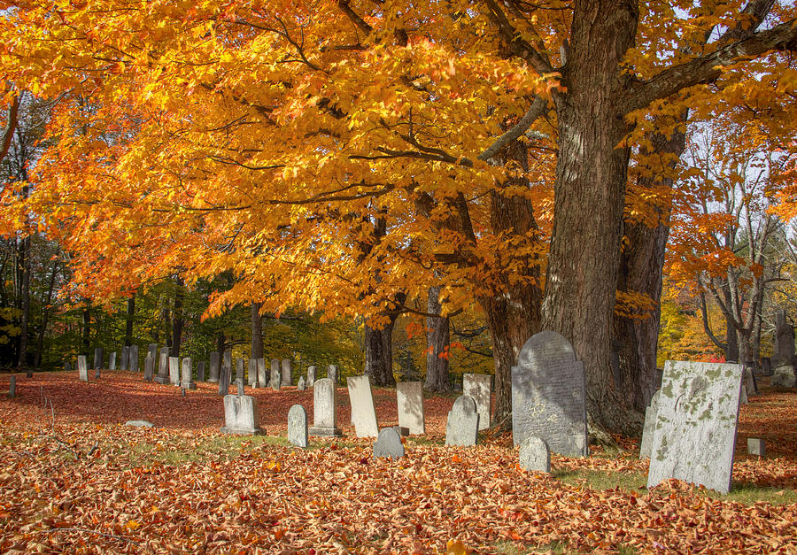 Fall Colors Photograph - Old Cemetery by Diana Nault
