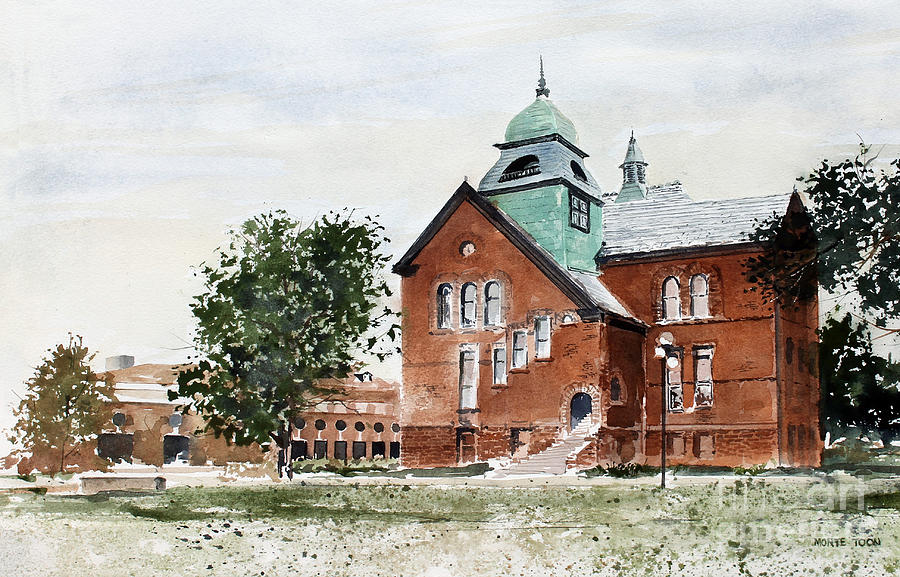 Oklahoma State University Old Central Painting by Monte Toon