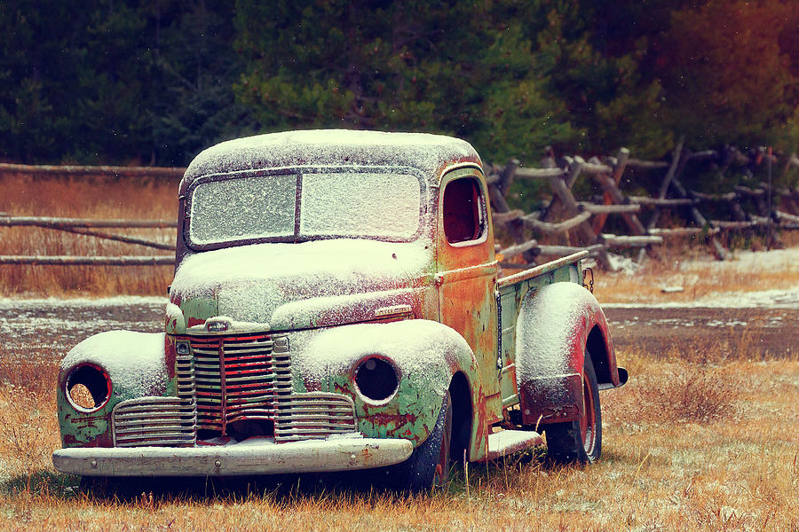 Old Photograph - Old Chevy II by Joan Escala