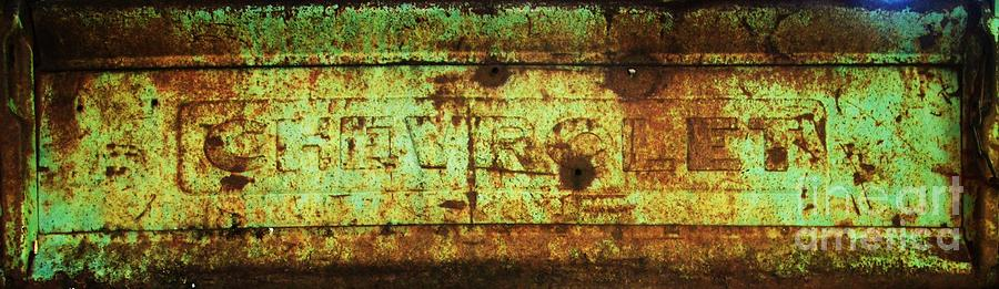 Chevy Photograph - Old Chevy Tailgate by Wendy Rickwalt
