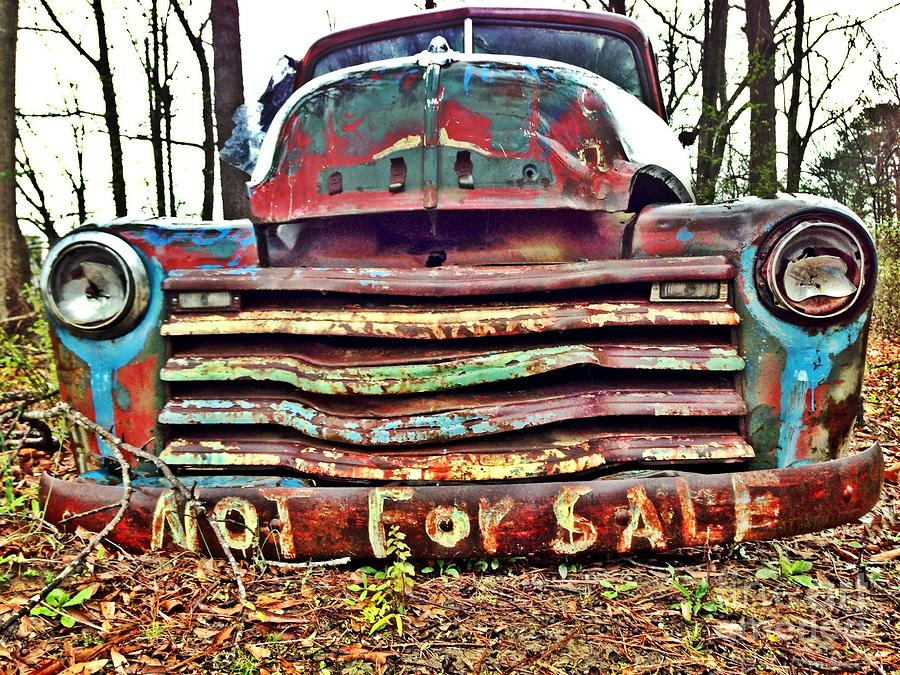 Old Chevy Truck With Graffiti Photograph by T Lowry Wilson