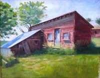 Oil Painting - Old Chicken House by Bonnie Overholser
