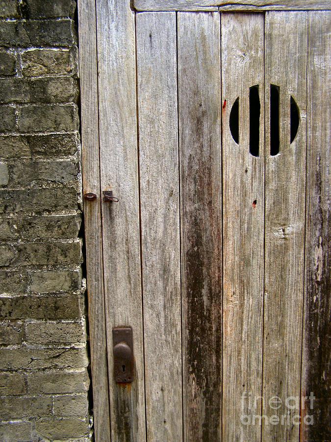 Door Photograph - Old Chinese Village Door Series Fifteen by Kathy Daxon