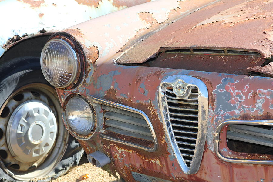Car Mixed Media - Old Chrome  by Cynthia Conte