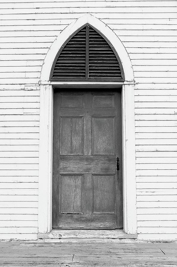 Church Photograph - Old Church Door by Brian Pflanz