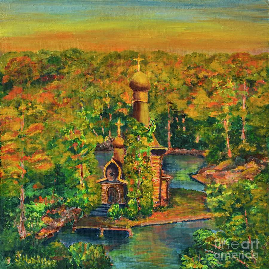 Old Church On The River by Olga Hamilton