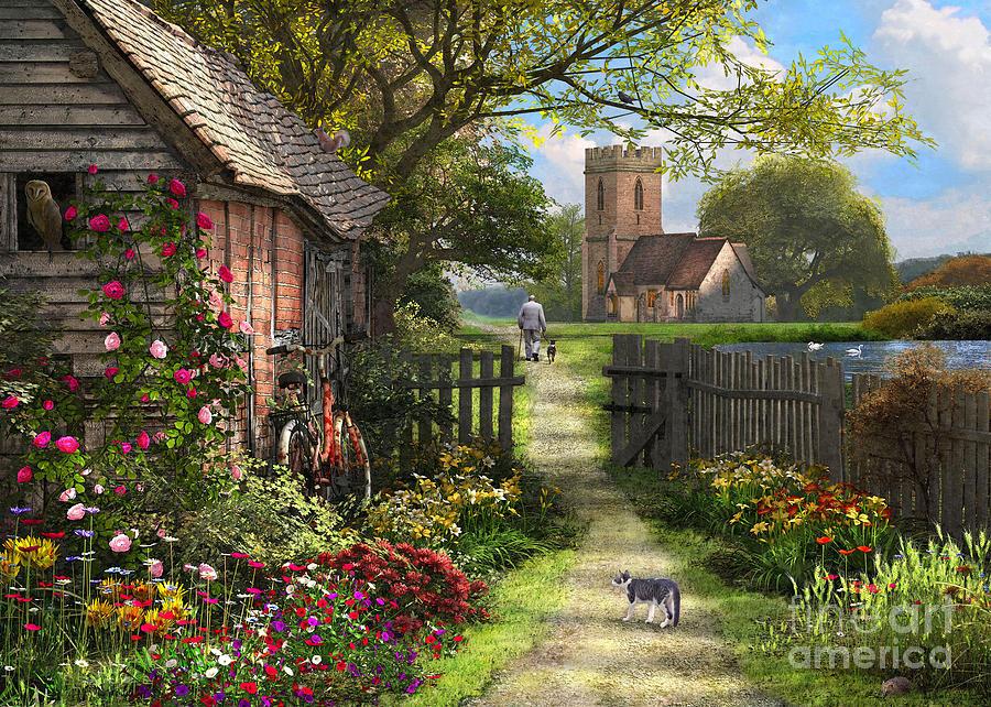 Church Photograph - Old Church Path by Dominic Davison