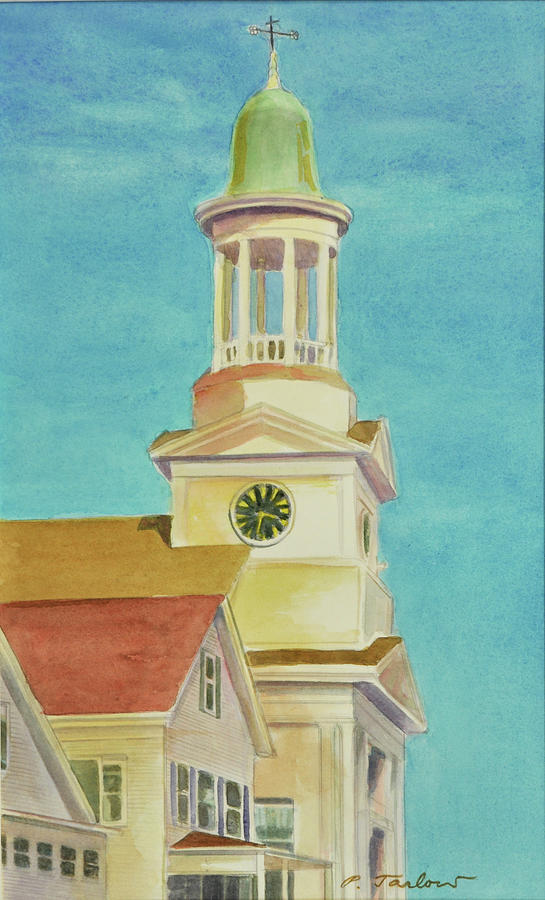 Landscape Painting - Old Church Steeple  by Phyllis Tarlow