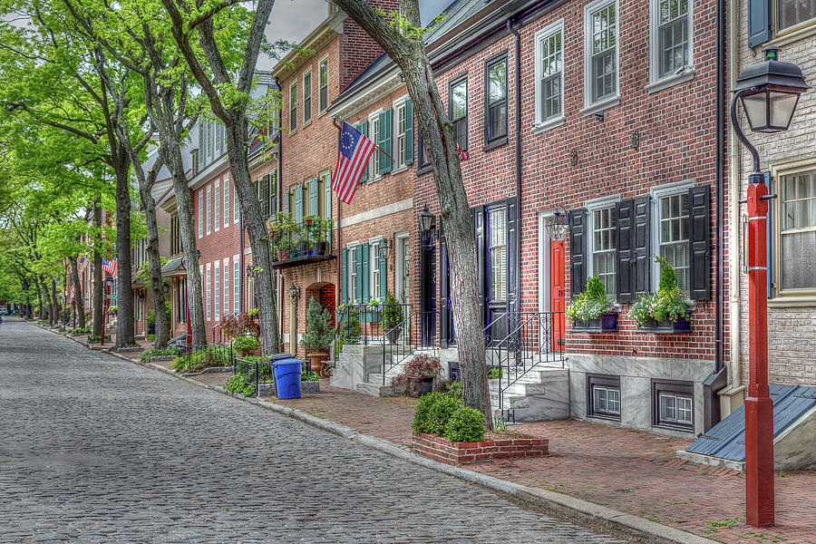 Old City Philadelphia by John A Megaw
