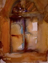 Water Colors Painting - Old City by Soaad Ahmad