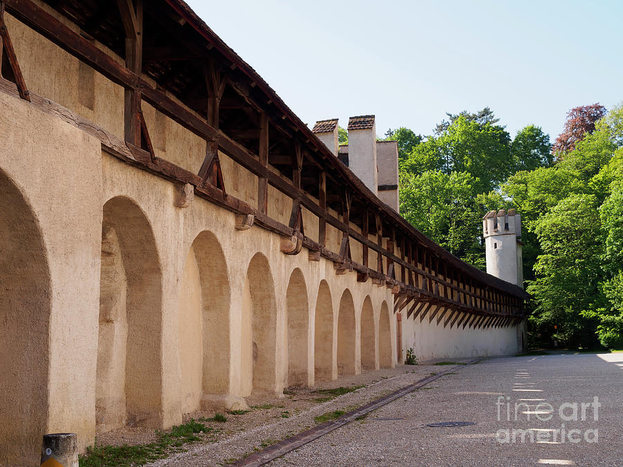 Old Photograph - Old City Wall In St Alban Basel Switzerland by Louise Heusinkveld