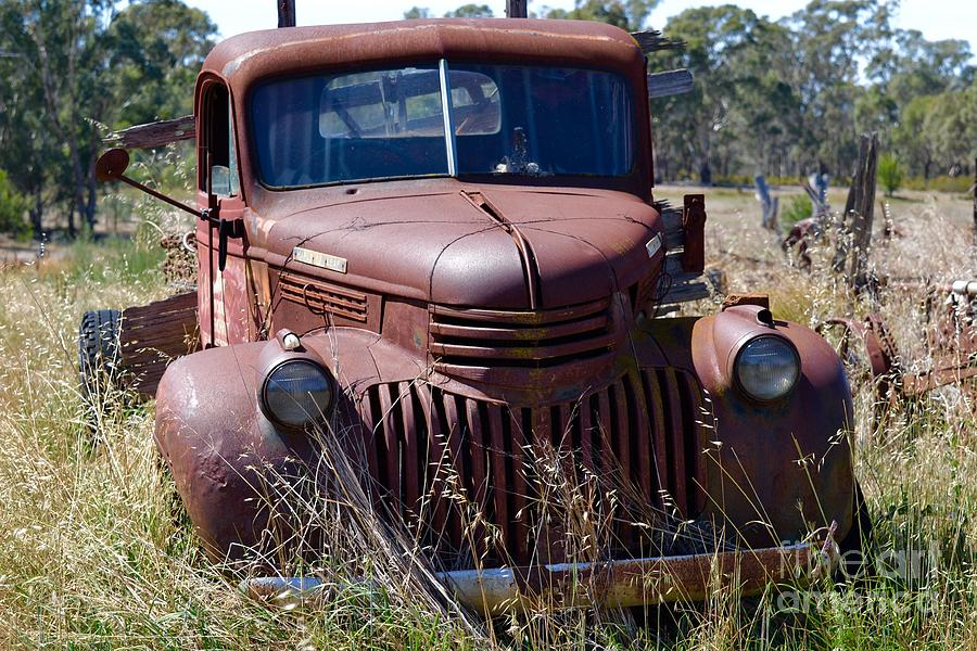 Old Classic Truck Photograph by Suzy McLendon