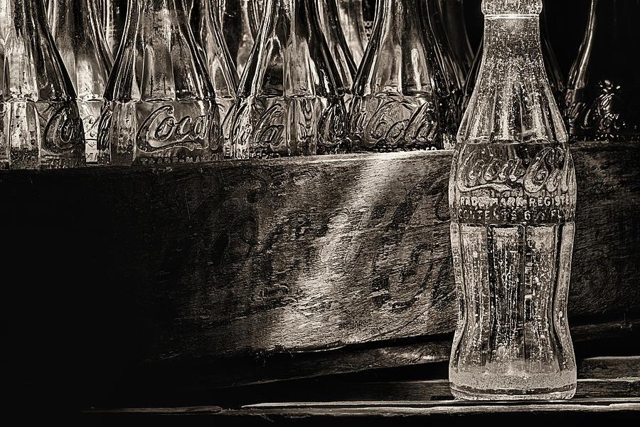 Coke Photograph - Old Coke Sepia by JC Findley