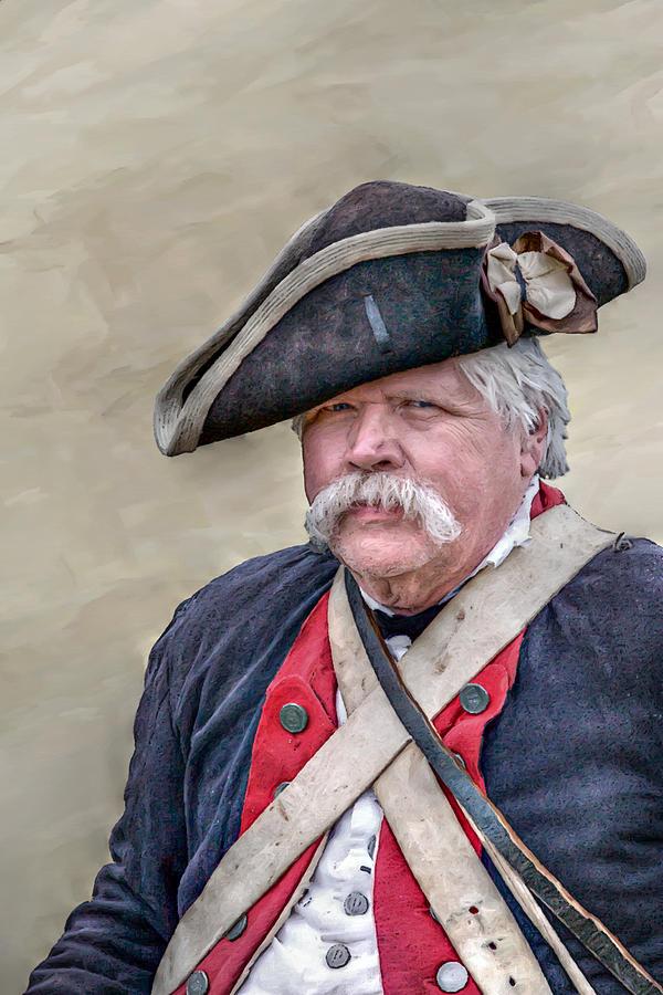 War Digital Art - Old Colonial Soldier Portrait by Randy Steele