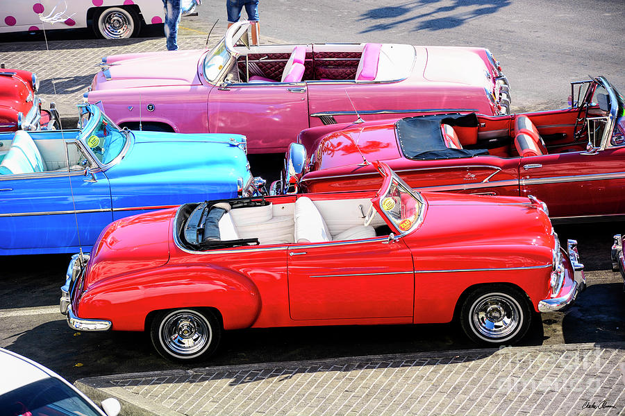 Old Convertibles In Havana Cuba Photograph by Charles Abrams