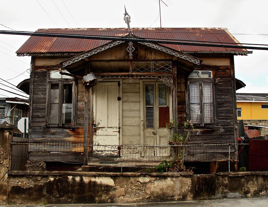Architecture Photograph - Old Cottage In Trinidad by Sean Flynn