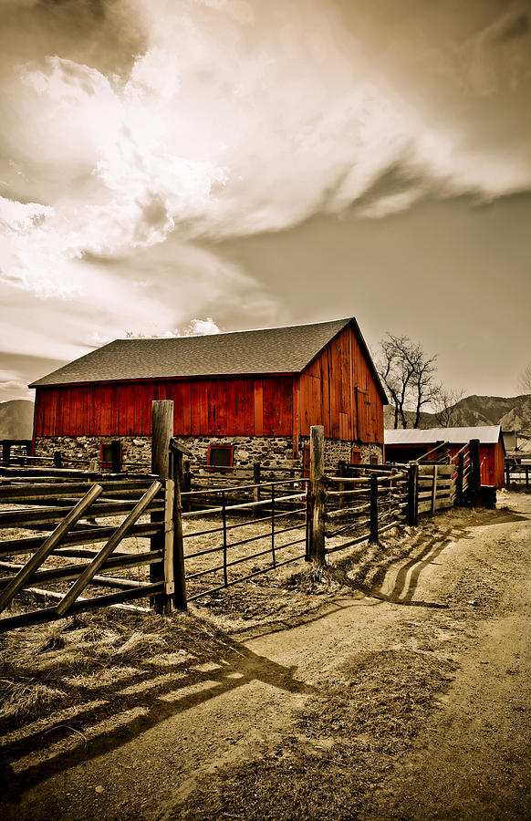 Americana Photograph - Old Country Farm by Marilyn Hunt