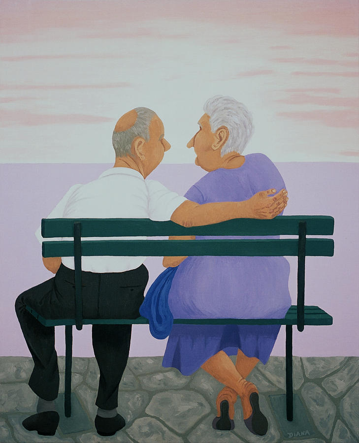 Αποτέλεσμα εικόνας για old couple painting