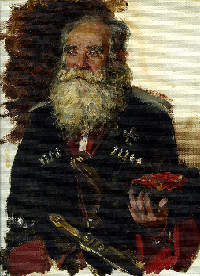 Old Coussack Painting by Korobkin Anatoly