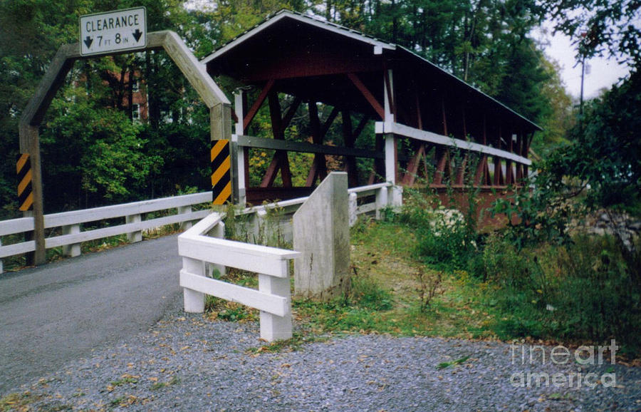 Old Covered Bridge In Pennsylvania  Photograph by Ruth  Housley