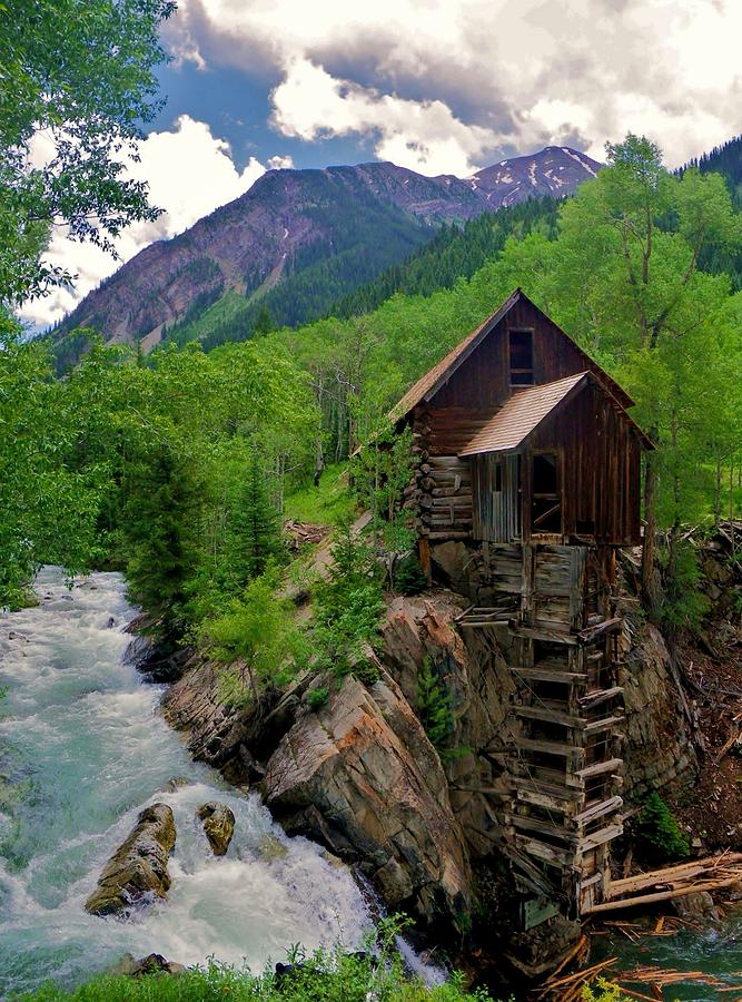 Crystal Mill Photograph - Old Crystal Mill by Matt Helm