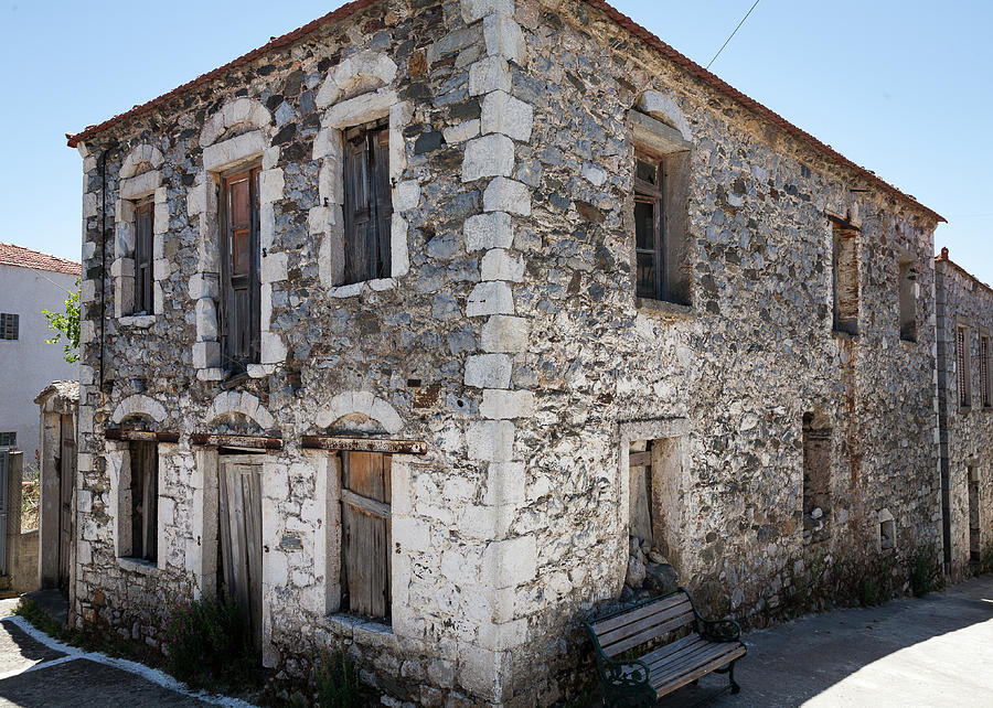 Old House Photograph - Old Deserted Village House In Greece by Al Poullis