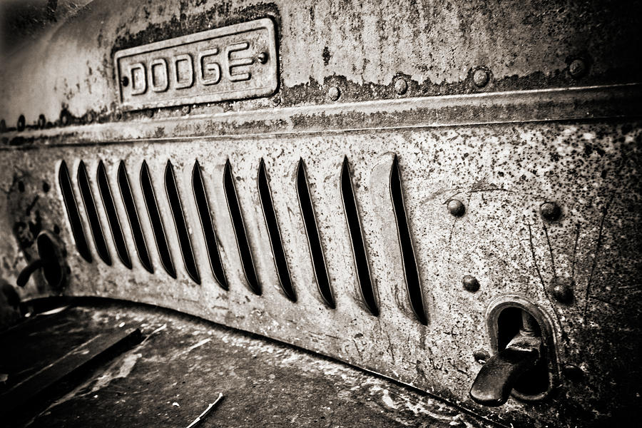 Americana Photograph - Old Dodge Grille by Marilyn Hunt