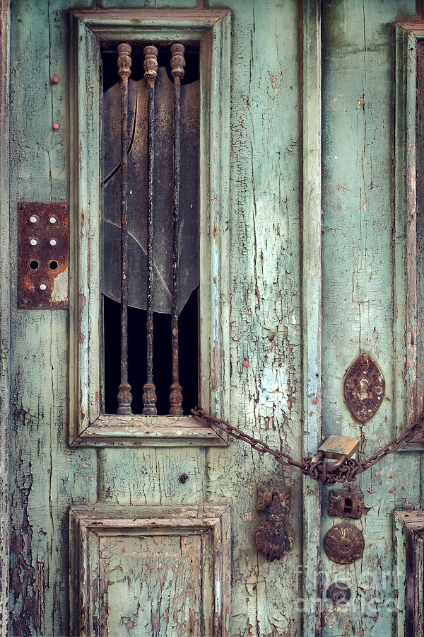 Door Photograph - Old Door Detail by Carlos Caetano