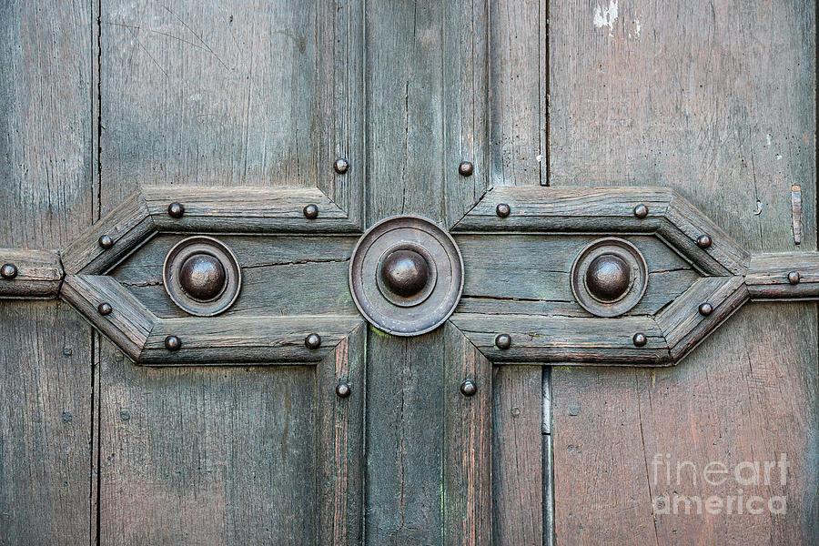 Door Photograph - Old Door Detail by Elena Elisseeva