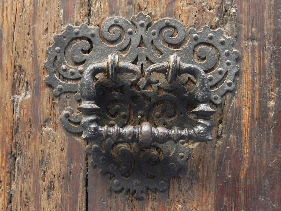 Door Photograph   Old Door Knocker By Marwan George Khoury