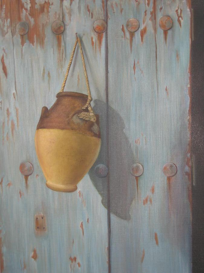 Door Painting - old Door by Marina Harris