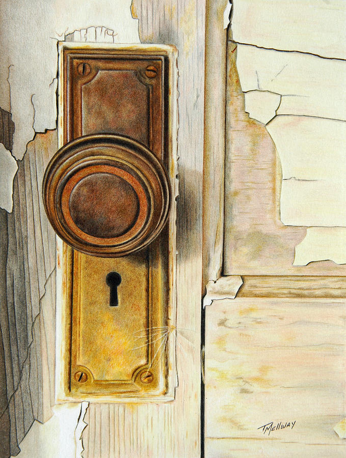 Old Door Drawing By Terry Mellway