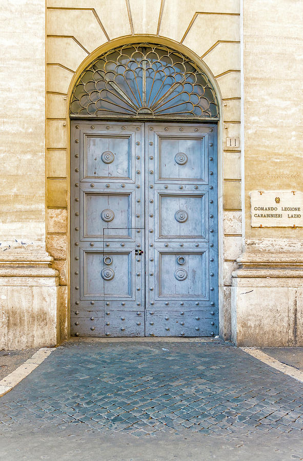 Old Doors In Rome Photograph By Marek Poplawski