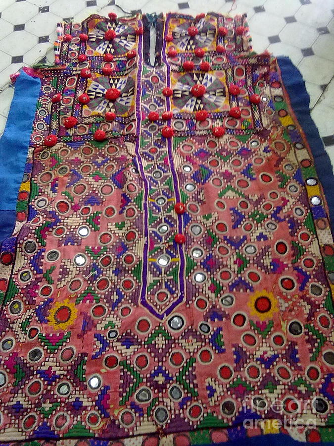 Indian Pakistani Textile Tapestry - Textile - Old Dress Piece by Dinesh Rathi
