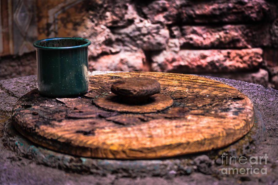 Cup Photograph - Old Drinking Cup by Gary Keesler