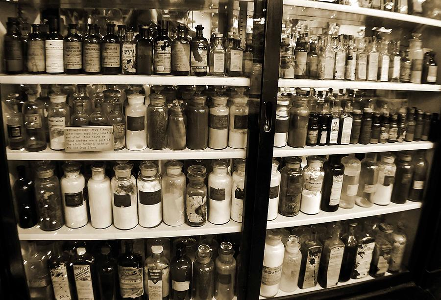 Drug Store Photograph - Old Drug Store Goods by DigiArt Diaries by Vicky B Fuller
