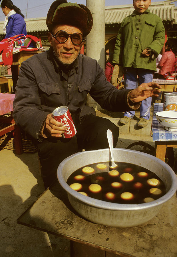 Old Eggs And Coca-cola In China Photograph