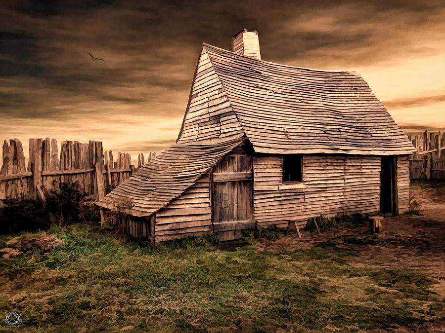 Barn Photograph - Old English Barn by Lourry Legarde