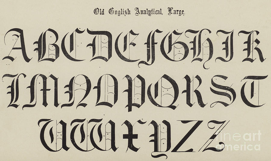 Old English Font Drawing By School