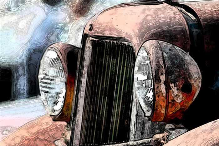 Classic Car Digital Art - Old Eyes by Talon Sorensen
