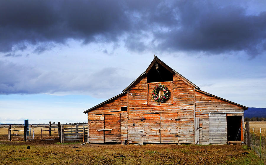 Old Faded Barn Photograph