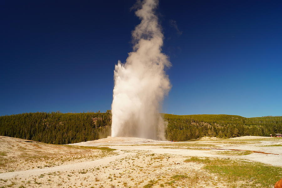 Geyser Photograph - Old Faithful IIi by Beth Collins