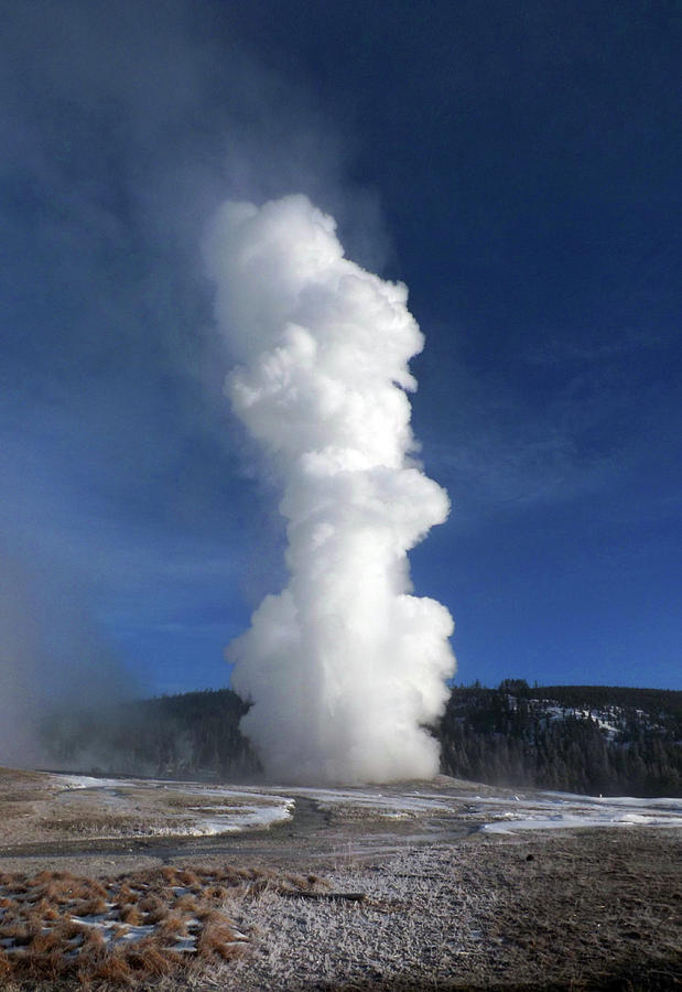 Old Faithful in Winter 2 by C Sitton