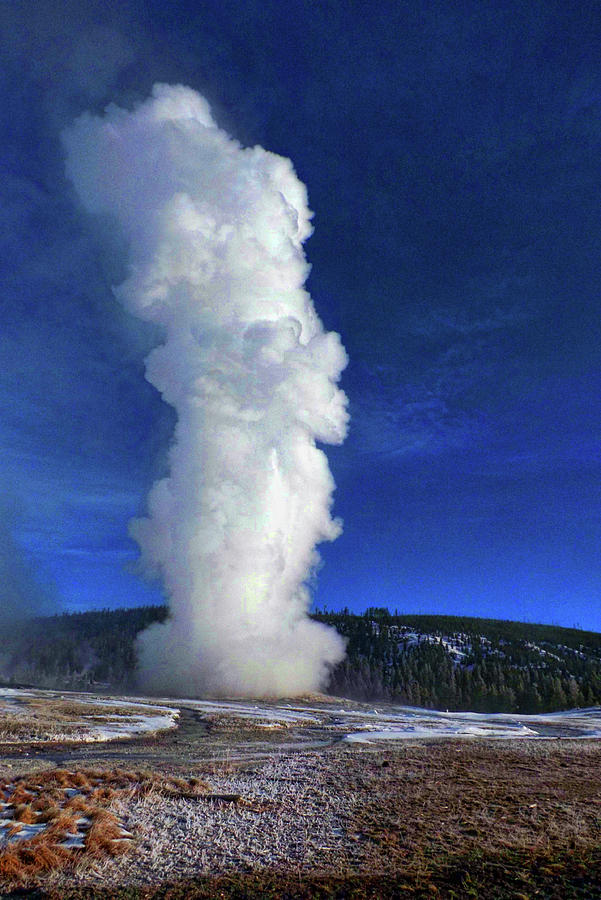 Old Faithful in Winter by C Sitton