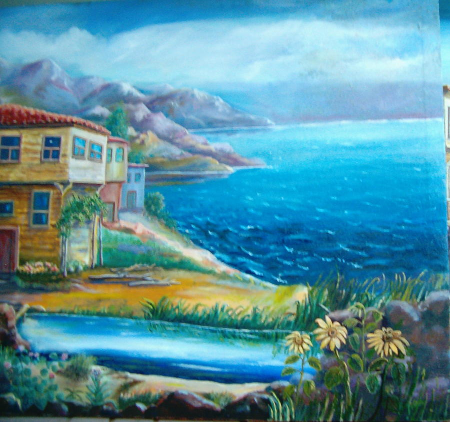 Painting Painting - Old Farm After by Fahrettin  Oktay