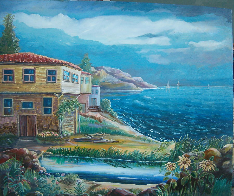 Waves Painting - Old Farm by Fahrettin  Oktay