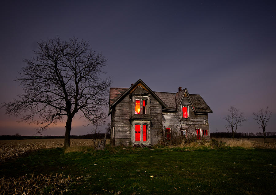 Abandoned Photograph - Old Farm House by Cale Best