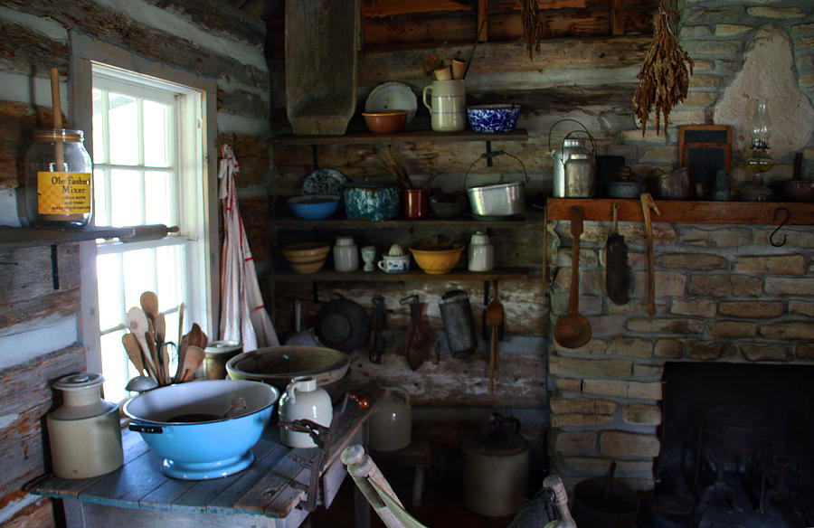 Old Farm Kitchen Photograph by Joanne Coyle